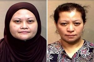 Assistant manager Arni Ahmad (left), who cheated the Singapore Statutory Boards Employees' Cooperative Thrift and Loan Society of $4.3 million, was sentenced to 12 years in jail. Administrative executive Hanati Jani was jailed for nine years and eigh