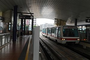 Mr Ang Boon Tong fell off the platform undetected onto the tracks at Fajar LRT station (left) at around 12.40am on March 24. He was hit by two driverless trains before he was spotted.
