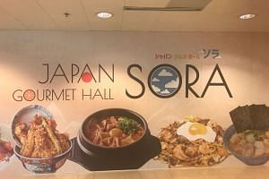 A poster advertising the new Japanese food hall in Changi Terminal 2, called Japan Gourmet Hall Sora.