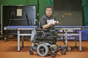 Mr Jason Chee was recently diagnosed with choroidal melanoma, a cancer of the eye, and had his right eyeball removed in May. This, after he had lost his legs, left arm and three fingers on his right hand in a naval ship accident in 2012. But he is un