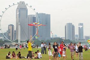 Families at Marina Barrage. This year's National Day Rally had a strong focus on social and personal issues, rather than more traditional economic and geopolitical affairs, said observers and MPs.