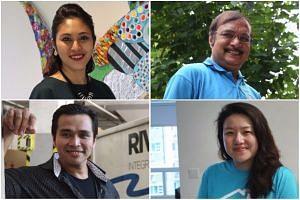 (Clockwise from top left) Ms Nuraslinda Safaruan, Mr Tariam Singh, Ms Gillian Tee and Mr Syafiq Yusof.