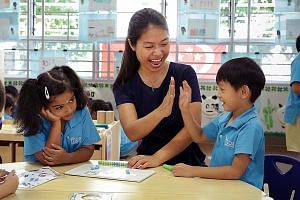 Ms Marie Luo was trained under the fully sponsored Kindergarten Teacher Training Programme.