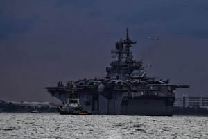 An amphibious assault ship USS America will provide messing and berthing services to McCain crew members and to support damage control efforts on board, the US 7th Fleet said late on Monday (Aug 21).