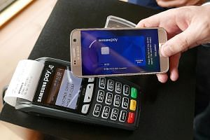 Samsung Pay has hit 10 trillion won (S$12 billion) in accumulated transaction volume in South Korea since it was launched in August 2015, the company was quoted as saying by Yonhap News Agency.