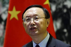 China's State Councilor Yang Jiechi at a news conference at Diaoyutai State Guest House in Beijing, China, on May 5, 2015.
