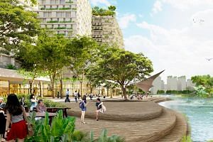 The new Jurong Lake District developments will create more waterfront areas for social and community activities, as well as spaces for recreation, retail and F&B.
