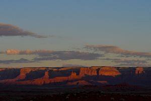The sun rises over Valley of The Gods inside Bears Ears National Monument, near Blanding, Utah, on Aug 23, 2017.