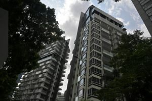 The Peak @ Cairnhill, 51 (right) and 61 (left) Cairnhill Circle are among the 41 buildings found to have unsafe cladding including Singapore Poly and Our Tampines Hub that failed SCDF's fire safety regulations.