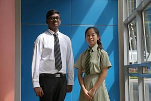Students T. Pravin and Diana Chia were among those lauded for good PSLE, GCE N- and O-Level results.