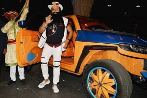 Gurmeet Ram Rahim Singh during the trailer launch of his film, Hind Ka Napak Ko Jawab, in Mumbai. The guru's larger-than-life personality attracted a cult-like following. Singh's supporters clashing with security forces in Panchkula on Friday.