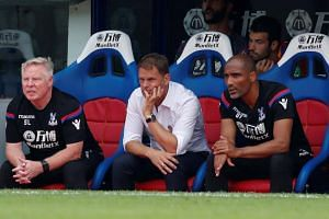 Crystal Palace manager Frank De Boer during the Premier League on Aug 26, 2017.