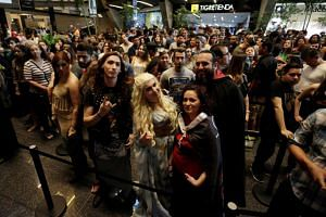 Fans gather to watch the last episode of the 7th season of Game Of Thrones in Monterrey, Mexico, on Aug 27, 2017.