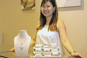 Gen.K Jewelry founder Genevie Yeo designs her own jade pieces, which are decorated with silver and gold as well as details inspired by flora and fauna such as bees, honeycomb patterns and ladybugs. Rachael Leong's (above) brand Lucy & Mui offers diam