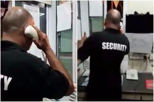 The 45-year-old man was filmed hurling expletives and claiming to be a member of a secret society.