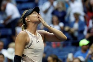 Maria Sharapova after defeating Timea Babos in their second round match.