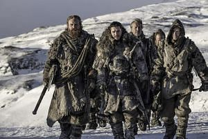 John Snow (second from left) suffered a dramatic death in Season 5, although he was brought back to life the following season.