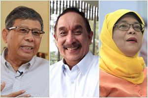 Presidential hopefuls (from left) Salleh Marican, Farid Khan and Halimah Yacob.