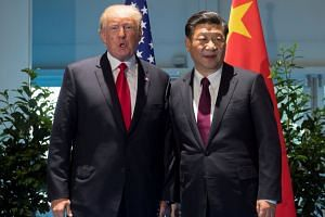 Trump and Xi meet on the sidelines of the G-20 Summit in Hamburg, Germany, July 8, 2017.