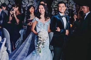 Ms Melissa Celestine Koh and her husband James Chen say they sought sponsorships for their wedding, although most came to them.