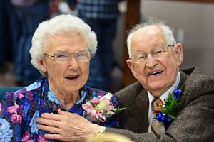 Irma and Harvey Schluter celebrated their 75th wedding anniversary in Spokane, Washington, in March this year