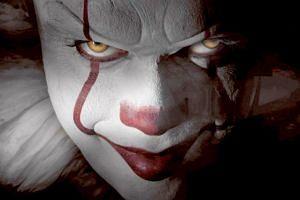 Bill Skarsgard as Pennywise in the horror thriller It.