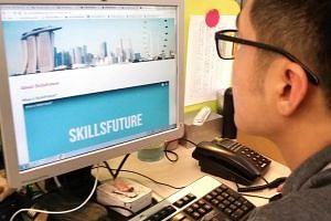 Last year, 418,000 people took up 950,000 places training places funded by the Ministry of Education and  SkillsFuture Singapore.
