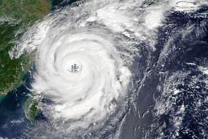 Typhoon Talim in the East China Sea, at 10:15 am local time (02:15 Universal Time), 14 September 2017.