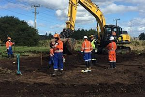 Pipeline owner Refining NZ is working on excavating around the pipe so damage can be assessed and repairs can begin. The company has told local media that initial investigations showed a digger had scraped the pipe. The pipeline is expected to return