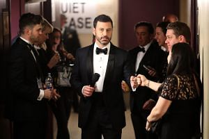 Host Jimmy Kimmel backstage during the 89th Annual Academy Awards at Hollywood & Highland Center, on Feb 26, 2017.