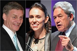 (From left) Bill English, Jacinda Ardern and Winston Peters.