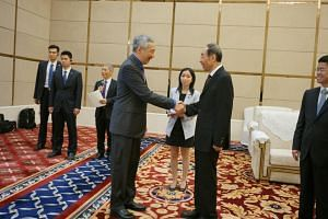 PM Lee Hsien Loong meets Fujian Party Secretary You Quan.