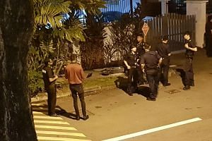 Police and SCDF arrived on the scene shortly after.