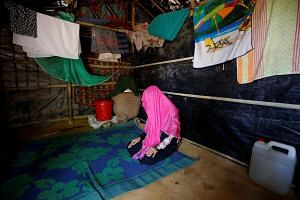 A rape victim poses in a Makeshift Refugee Camp in Cox's Bazar, Bangladesh, on April 11, 2017.