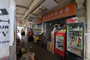 At Chuan Jian Huat Minimart in Toa Payoh, business has fallen by 10 per cent from last year. Department of Statistics figures show that for every month from January to July, sales at such stores fell from a year ago, in contrast to the same period la