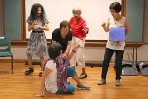 Glowers Drama Group, which targets people aged 50 and older, conducts weekly drama workshops.