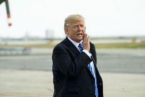 President Donald Trump arrives in New York, on Sept 26, 2017.