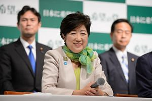 Yuriko Koike, governor of Tokyo and head of the Party of Hope, at a news conference in Tokyo, on Sept 27, 2017.