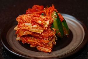 Nearly half of all kimchi served at restaurants and food service facilities in South Korea is from China, a survey by the World Institute of Kimchi showed.