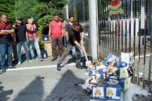Datuk Seri Jamal Yunos has been arrested in connection with his beer-smashing antics outside the Selangor state secretariat building.