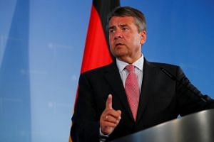 German Foreign Minister Sigmar Gabriel addresses a news conference in Berlin on July 20, 2017.
