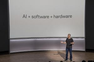 Google senior vice-president of hardware Rick Osterloh speaking during a product launch event in San Francisco last week when the company unveiled the second generation of its own devices.
