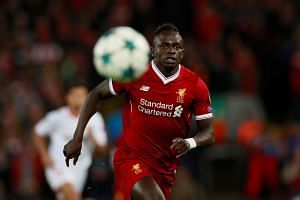 Liverpool's Sadio Mane in action against Sevilla during their Champions League football match.