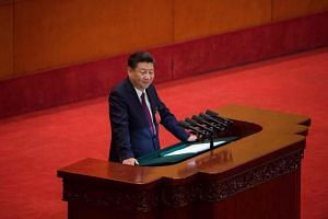 Chinese President Xi Jinping spent almost 3½ hours delivering a speech on China's achievements during his first five-year term as the Communist Party chief.