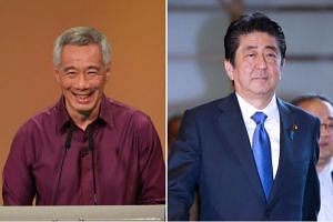 PM Lee said the decisive win by Mr Abe's Liberal Democratic Party is a