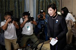As the projected results came in on Sunday (Oct 22) night, Tokyo Governor Yuriko Koike offered a public apology for her party's showing.