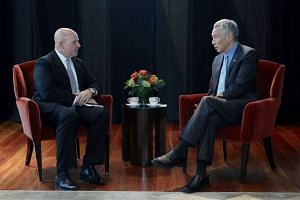 PM Lee Hsien Loong speaks to United States National Security Adviser H.R. McMaster during his six-day visit to Washington DC.