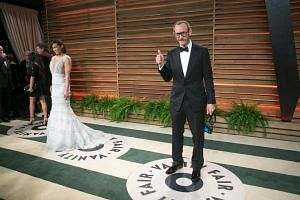 Photographer Terry Richardson arriving at the 2014 Vanity Fair Oscar Party in West Hollywood, California.