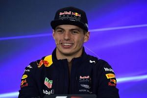Max Verstappen speaks during a press conference in Mexico city, Oct 26, 2017.