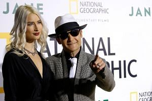 Actor Corey Feldman and his wife Courtney Anne Mitchell. Feldman has long claimed that his career was destroyed for campaigning against what he describes as a Hollywood paedophile ring that abused him as a child.